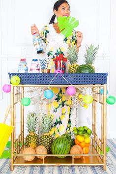 Summer Sangria Q&A with Chandon – Society Social Adult Luau Party, Tiki Party, Summer Sangria, Hawaiian Party Decorations, Bar Cart Styling, Fun Events, Hello Summer, Beach Themes, Centerpieces