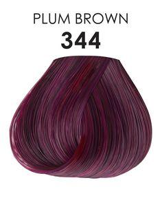 Adore Plus #344 PLUM BROWN 3.4 FL OZ Dark Plum Brown Hair, Brown Hair Colors, Purple Hair, Violet Hair, Plum Color, Plum Purple, Burgundy Plum Hair, Brown Brown, Dark Hair