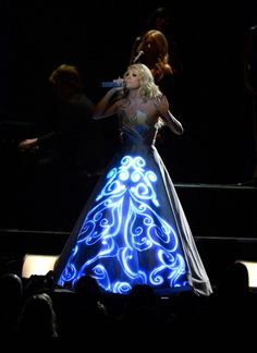 Carrie Underwood and her light up dress from the Grammy's 2013