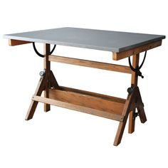 Vintage Drafting Table | From a unique collection of antique and modern industrial and work tables at http://www.1stdibs.com/furniture/tables/industrial-work-tables/