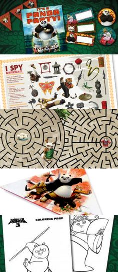 4 Reasons to See Kung Fu Panda 3 AND Free Printable Kids Activities: Party Ideas and Decor, I Spy Game, Mazes, Coloring Pages, Bookmark