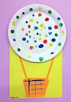 KOLOROWY ŚWIAT DZIECI: Kolorowe balony z papierowych talerzy