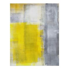 Grey and Yellow Abstract Art Poster Print - this site has great abstract posters & cheap!