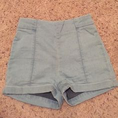 Urban Outfitters high waisted shorts Blue high waisted shorts. Lightly worn. Great condition! Urban Outfitters Shorts