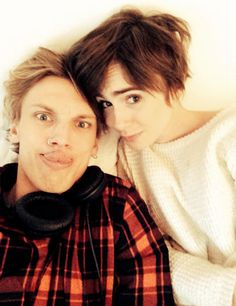 Jamie Campbell Bower & Lily Collins being a uber cute couple on the internet.