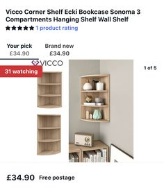 Corner Shelves, Wall Shelves, Ikea Fitted Wardrobes, Bookcase, Home Decor, Decoration Home, Room Decor, Ikea Built In Wardrobes, Book Shelves