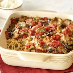 French Spaghetti | Midwest Living-made this the other night and it was delicious! Great option for meatless Monday.