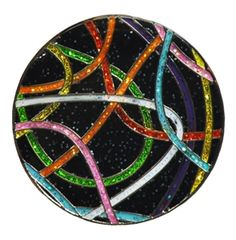 "Loudmouth Golf ""Scribblz"" print Ball Marker with Crushed Crystal. Match your Loudmouth golf apparel with your accessories. Mark your spot in a style!"