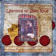 Learning to Shell Rice:  Another one for Bug's mission book.. sorry not sure of credits.
