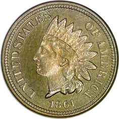 Indian Cents 1861 1C PF