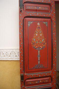 Hand painted Moroccan door