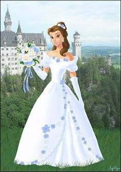 First I did Belle as a bride. Which Disney princess should I do next as a bride? (I only want to do those who didn't get their wedding dress. Aurora the bride Disney Princess Pictures, Walt Disney Pictures, Image Princesse Disney, Walt Disney Characters, Princesses Disney, Disney Princess Belle, Belle Beauty And The Beast, Chica Anime Manga, Modern Disney
