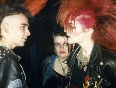 Unknown punks, presumably from the 1980s