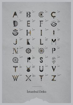 İstanbul Deko / Typeface by geray gencer, via Flickr