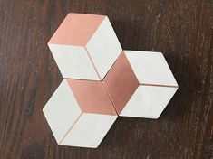 Hexagon Concrete Coaster set by Faceted
