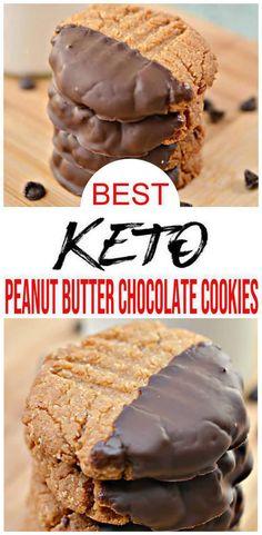 Chocolate Peanut Butter Cookies, Peanut Butter Cookie Recipe, Low Carb Chocolate, Chocolate Recipes, Low Carb Desserts, Bbq Desserts, Healthy Desserts, Keto Snacks, Keto Cookies
