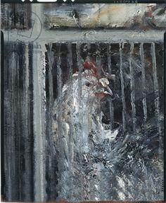 Maggi Hambling, Battery Hen, 1986 (oil on canvas) (detail)