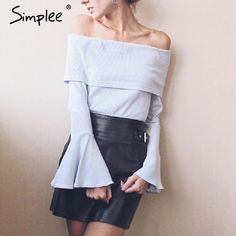 Why most people fail at trying to Discount 46% Sale Price US $11.69 Simplee Off shoulder flare sleeve knitted sweater Sexy elastic bodycon short pullover women tops Autumn winter basic jumper 2017 #pullovers_sweaters