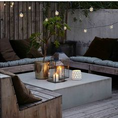 20 Epic Backyard Lighting Ideas to Inspire your Patio Makeover DIY Outdoor Design Inspiration Bistro Lights Outdoor Rooms, Outdoor Gardens, Outdoor Living, Outdoor Decor, Outdoor Candles, Rustic Outdoor Spaces, Garden Candles, Outdoor Cafe, Outdoor Kitchens