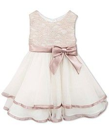 Rare Editions Baby Girls' Tiered Lace Dress