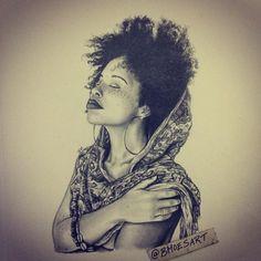 Artist Bmoesart on IG Black Girl Art, Black Women Art, Black Art, Art Girl, Natural Hair Art, Natural Hair Styles, Afro Hair Art, African American Art, Fantasy Artwork