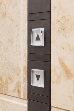 ホールボタン Signage Design, Layout Design, Elevator Buttons, Elevator Design, Hotel Corridor, Elevator Lobby, Lift Design, Lifted Cars, Lobby Design