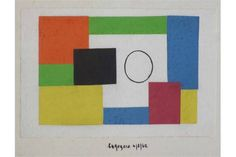 Lot 531 - Edward Rogers (1911-1994),  Abstract studies, signed and dated 4/3/62, gouache and pencil, various
