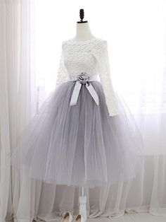 long sleeves homecoming dresses, lace homecoming dresses, A-line homecoming dresses, birthday dresses, tulle homecoming dresses, short prom dresses, formal dresses, party dresses#SIMIBridal #homecomingdresses