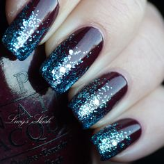 Another glitter tip. I know, I'm addicted, but I love the color schemes!