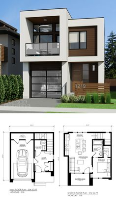 3 Floor Modern House Plans 18 Small House Designs with Floor Plans House and Decors House Front Design, Tiny House Design, Modern House Design, Sims 4 Modern House, Duplex House Design, Townhouse Designs, Small House Plans, House Floor Plans, Modern Floor Plans