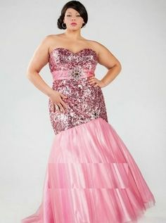 Sydney's Closet has on-trend plus size prom dresses in sizes in a variety of must-have colors and fabrics. Buy affordable formal gowns for prom now. Senior Prom Dresses, Prom Dress 2014, Bridal Dresses, Prom 2015, Pink Dresses, Mermaid Evening Gown, Evening Gowns, Mermaid Gown, Evening Dresses Plus Size