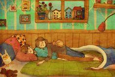 """L'artiste Coréenne Puuung illustre à la perfection l'amour dans son quotidien. Dans une ambiance légère et colorée, elle réussit à saisir ces instants de la vie de couple, ces petits moments amoureux.""""Love is something that everybody can relate to. And Love comes in ways that we can easily overlook in our daily lives. So, I…"""