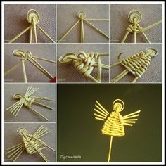 1 million+ Stunning Free Images to Use Anywhere Straw Weaving, Paper Weaving, Weaving Textiles, Weaving Patterns, Basket Weaving, Christmas Angels, Christmas Crafts, Corn Dolly, Straw Crafts