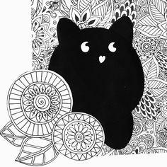 Fan art of lovely Pupa Milano make up kit case (Black Cat), artwork by Rita Dabrowicz