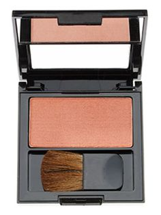 Revlon Powder Blush in Naughty Nude is a rosy brown powder brush with a subtle golden sheen