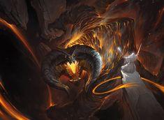 1603_Gandalf vs Balrog by alswns3421.deviantart.com on @DeviantArt