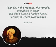 Bulleh Shah Quotes That Will Bring More Wisdom To Your Life - ScoopNow Two Word Quotes, Shyari Quotes, Sufi Quotes, Islamic Quotes, Motivational Quotes, Baba Bulleh Shah Poetry, Sufi Saints, Rumi Poetry, Saint Quotes
