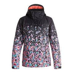 815deccfe671 Roxy SNOW Womens Jetty Printed Regular Fit Jacket Gradient Flowers S    Check out this great