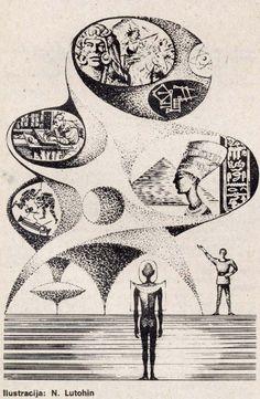 """Algunas ilustraciones del dibujante yugoslavo Nikolai Lutohin aparecidas en la revista """"Galaksija"""" en la década de los 70s           ..."""