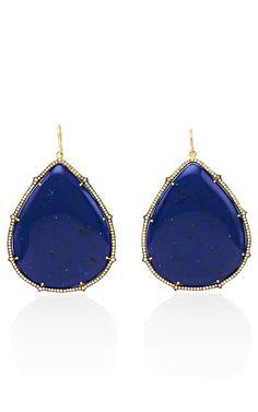 Sylva & Cie Lapis Colored Bakelite Earrings