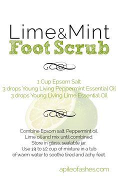 Lime & Mint Foot Scrub + Giveaway | apileofashes.com