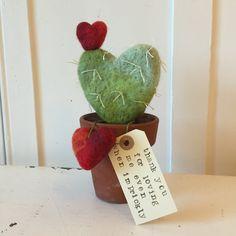 Articoli simili a Feltrata cactus in un vaso - grazie per amarmi anche quando sono spinosa x su Etsy