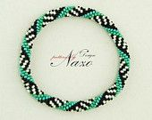 Spirals - Crochet Bead Bracelet Pattern Very popular style right now!