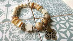 Armbänder - Armband natur ethno ☮ boho Jaspis - Holz - ein Designerstück von charm_one bei DaWanda