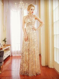 2018 A-LINE PROM DRESSES SCOOP RHINESTONE MODEST LONG PROM DRESS EVENING DRESSES M1796