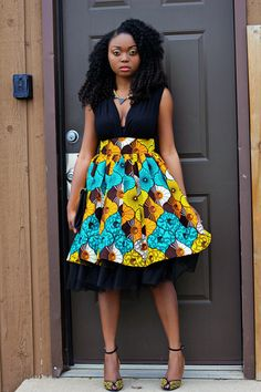 Ankara african print skirt. Watch the tutorial on youtube on how to make this skirthttps://www.youtube.com/watch?v=qXl1CDlHMW4