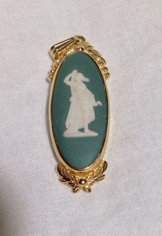 Vintage sage green signed Wedgwood gold by HoofheartedCreations, $40.00