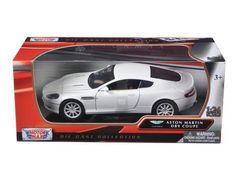 Aston Martin DB9 Coupe White 1/24 Diecast Car Model by Motormax