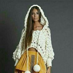 Boho Chic, Granny Squares, Top Pattern, Crochet Ideas, Crochet Top, Sweaters, Dresses, Fashion, Knits