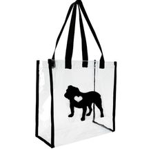 English Bulldog Lover...Clear Stadium Bag...Black